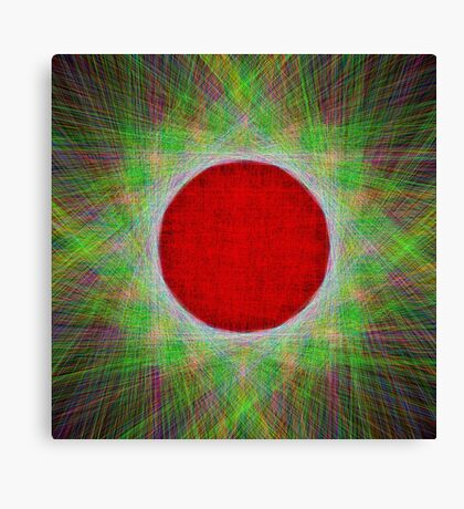 Red Button Planet Canvas Print