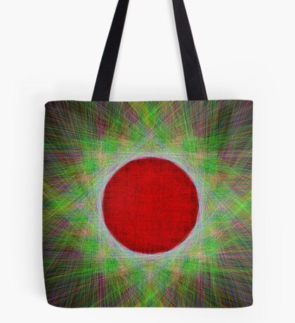 Red Button Planet Tote Bag