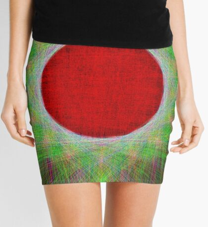 Red Button Planet Mini Skirt