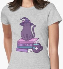 Feline Familiar Womens Fitted T-Shirt