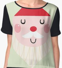 Adorable christmas Santa with Red Hat Women's Chiffon Top