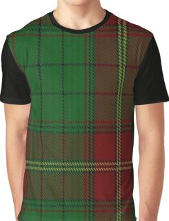 00185 Ulster (Red) District Tartan  Graphic T-Shirt
