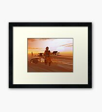 ARES CYBORG IN THE DESERT OF HYPERION,Sci Fi Movie Framed Print