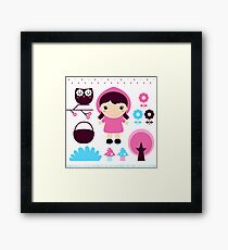 Little Red Riding Hood Fairytale { Pink Edition } Framed Print