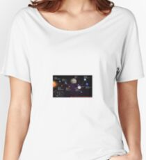 space infographic Women's Relaxed Fit T-Shirt