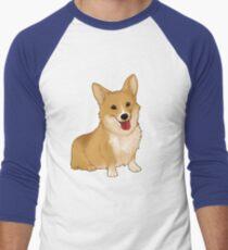 Cute smiling corgi Men's Baseball ¾ T-Shirt