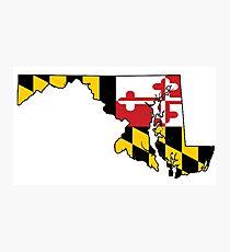 Maryland - Flag Photographic Print