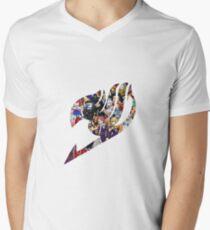Fairy Tail GMG Characters Logo Mens V-Neck T-Shirt