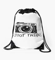 I Shoot Things Drawstring Bag