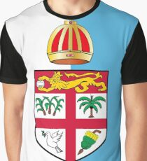 Fiji Flag Design Graphic T-Shirt