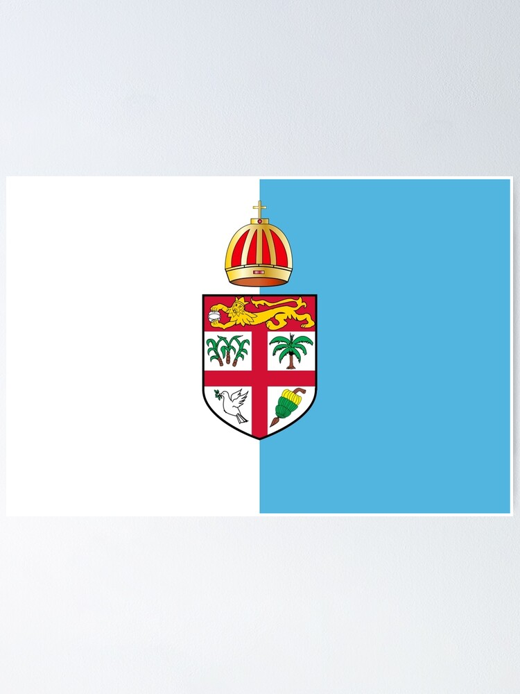 Fiji Flag Design Poster