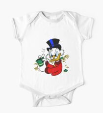 Dagobert Duck Baby Body Kurzarm