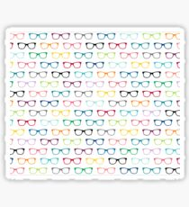 Hipster Glasses Pattern Sticker