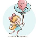 Girl with Balloons by Krista Heij-Barber
