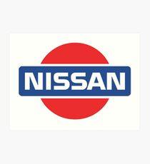 Lámina artística Logotipo retro de Nissan