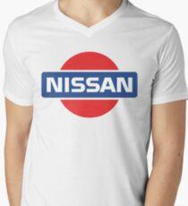 Camiseta de cuello en V Logotipo retro de Nissan