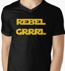 REBEL GIRL GRRRL PRINCESS LEIA STAR WARS Men's V-Neck T-Shirt