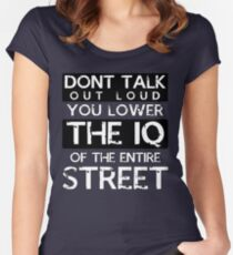 Sherlock - Don't Talk Out Loud... Women's Fitted Scoop T-Shirt