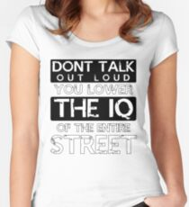 Sherlock - Don't Talk Out Loud... Women's Fitted Scoop T-Shirt