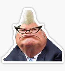 Pegatina Donald Trump como Roz de Monsters Inc 2016