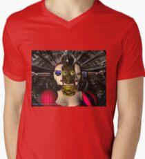 ANDROID XENIA SPACESHIP PILOT  / Sci -Fi Mens V-Neck T-Shirt