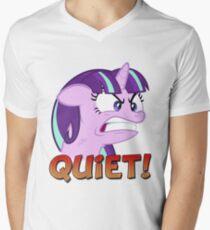 STARLIGHT GLIMMER - QUIET! Men's V-Neck T-Shirt
