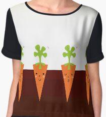 Sweet Carrots growing in dark Soil Women's Chiffon Top