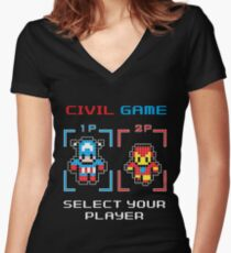 civil game Women's Fitted V-Neck T-Shirt