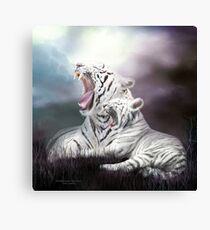 Wild Generations - White Tigers Canvas Print
