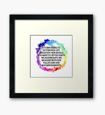 Follies And Accomplishments Framed Print