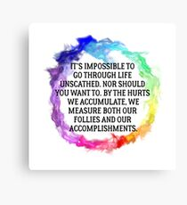 Follies And Accomplishments Canvas Print