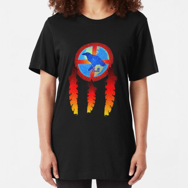 Earth Medicine-Crow  Slim Fit T-Shirt