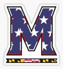 American Flag UMD M Logo Sticker
