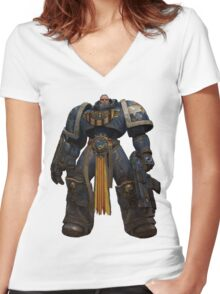Space Marine Catala Women's Fitted V-Neck T-Shirt