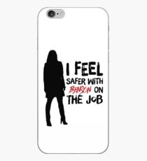 I Feel Safer With Benson On The Job iPhone Case