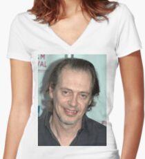 Steve Buscemi Women's Fitted V-Neck T-Shirt