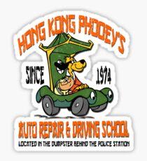 Hong Kong Phooey's Auto Repair & Driving School Sticker