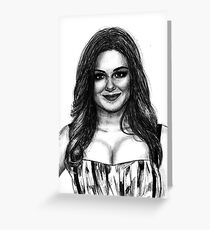 Ariel Winter Drawing Greeting Card
