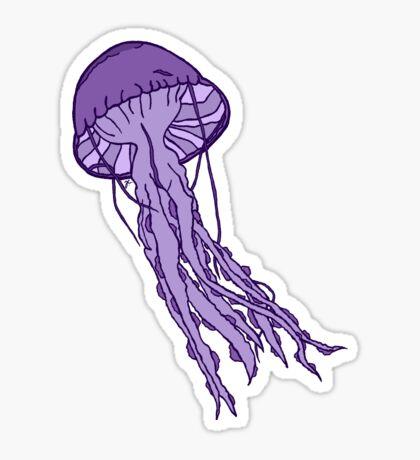 Medusa púrpura Pegatina