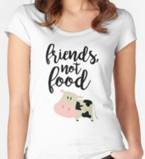 Friends Not Food - Vegan  Women's Fitted Scoop T-Shirt