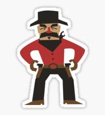 Western Cowboy Gunslinger Sticker