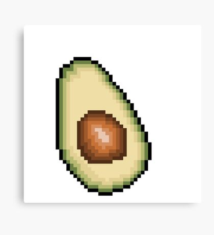 Avocado 8-Bit PIxel Art Canvas Print