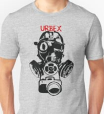 Urban Exploration UrbEx Gas Mask Skull T-Shirt