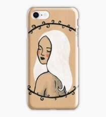 White hair iPhone Case/Skin