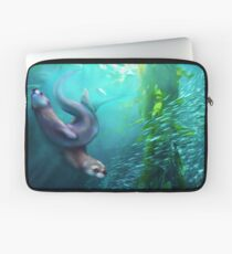 Otters in the Kelp Forest Laptop Sleeve