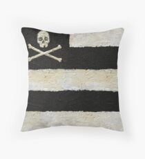 Skulls & Stripes Throw Pillow