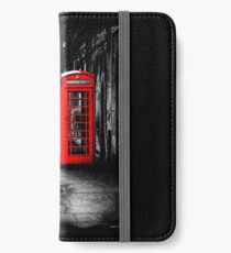 London Calling - Red British Telephone Box iPhone Wallet/Case/Skin