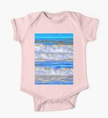Abstract beautiful ocean waves One Piece - Short Sleeve