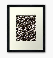 Brown Leopard Abstract Pattern  Framed Print
