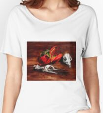 penguin and pomegranate  Women's Relaxed Fit T-Shirt